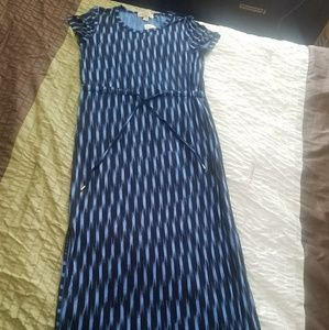 Michael kors Oxford blue maxi dress
